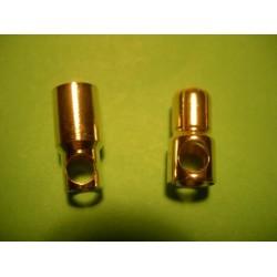 Ficha Dourada 6,0mm  (macho/fêmea)