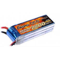 Gens Ace 2200mAh 11.1V 25C 3S1P Lipo Battery Pack with XT60 Plug for DJI Phantom