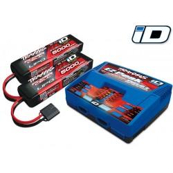 Traxxas Pack EZ-Peak Dual 8-Amp & Lipo 2x 5000mAh 11,1V