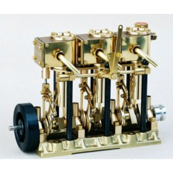 Saito 3-Cylinder Steam Engine with Boiler & Burner T3DR