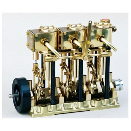 Saito 3-Cylinder Steam Engine with Boiler & Burner T3DR