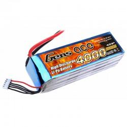 Gens Ace 4000mAh 14.8V 25C 4S1P Lipo Battery Pack