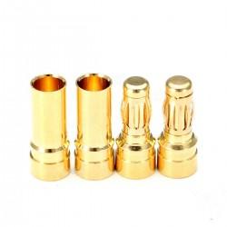 Ficha Dourada 3,5mm (par)