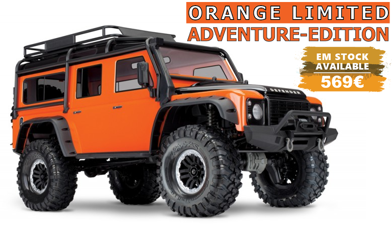 Traxxas TRX-4 Land Rover Defender Orange Limited Adventure-Edition 1/10 Crawler
