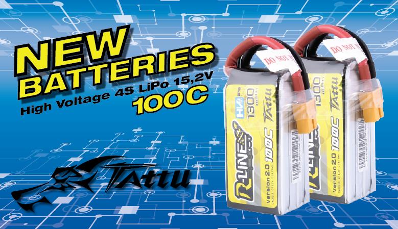Tattu R-Line 1300mAh 100C 4S1P 15.2V High Voltage Lipo Battery Pack V2.0