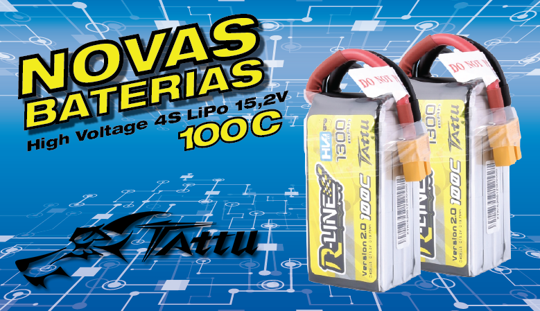 Tattu R-Line 1300mAh 100C 4S1P 15.2V High Voltage Lipo Battery Pack V2.0