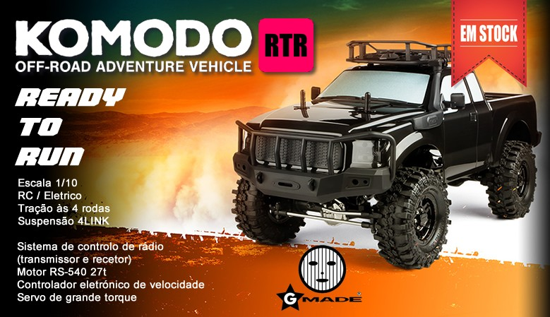 GMADE GS01 Komodo 4WD 1/10 Truck Scale Kit RTR