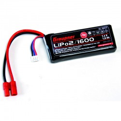 Graupner LiPo-battery 20C 2/1600 7,4 V G3,5