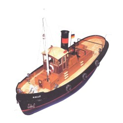 Aero-Naut Kalle Steam Tug Boat 1/33 Model Kit