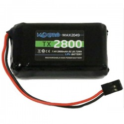MAXPRO LiPo Battery TX 7.4V 2800mAh for Transmitter Futaba