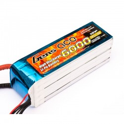 Gens Ace 6000mAh 18.5V 35C 5S1P rc Lipo Battery