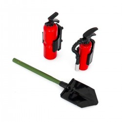 HobbyTech Trench Shovel and Fire Extinguisher Set