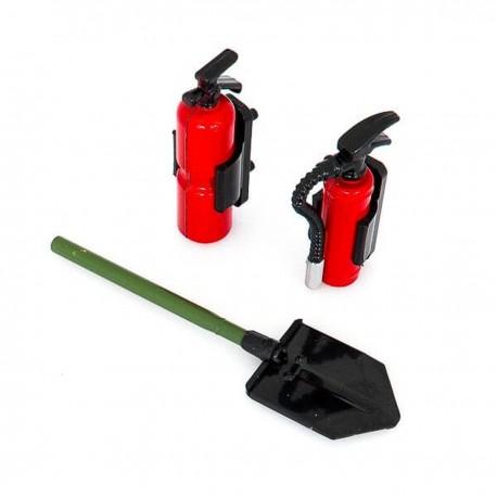 HobbyTech Trench Shovel and Fire Extinguisher Set