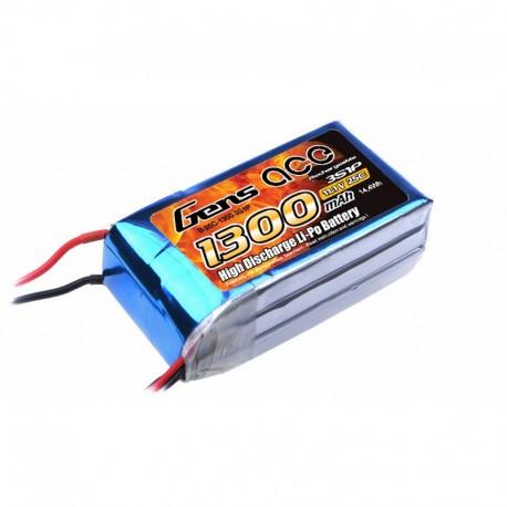Gens Ace 11.1V 25C 3S 1300mAh Lipo Battery Pack