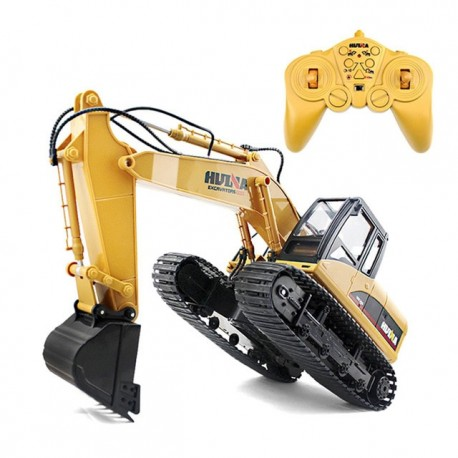 Huina 1/14 RC Excavator with Die Cast Bucket Kit RTR