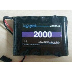 MAXPRO Battery Ni-MH AA 6,0V 2000mAh Flat Futaba