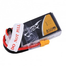 Tattu 850mAh 11.1V 75C 3S1P Lipo Battery Pack With XT60 plug