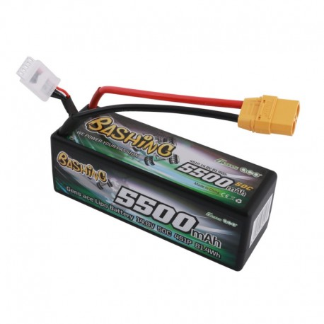 Gens Ace Bashing Series 5500mAh 14.8V 50C 4S1P HardCase Lipo Battery Pack with XT90