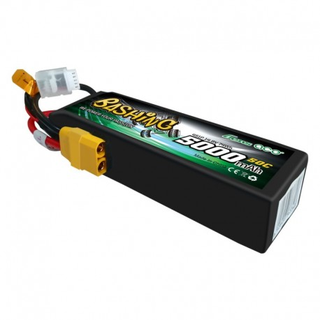 Gens Ace Bashing Series 5000mAh 14.8V 4S1P 50C Lipo Battery Pack with XT90 Plug