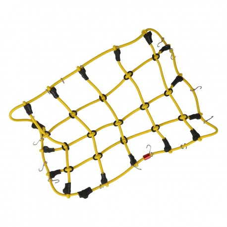 Robitronic Luggage net with hooks Yellow (190mm x 120mm)