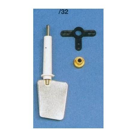 Aero-Naut Oar Set Shaft Stainless Steel 4mm Blade 35x47 mm