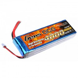 Gens Ace 4000mAh 7.4V 25C 2S1P Lipo Battery Pack