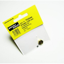 Aero-Naut Hexagonal Shaft Insert 3mm Brass for Locking Screws M3