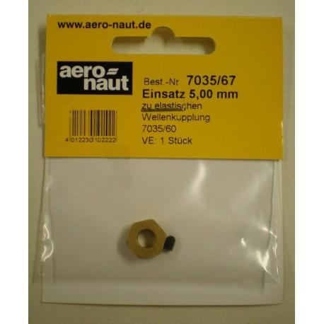 Aero-Naut Hexagonal Shaft Insert 5mm Brass for Locking Screws M3
