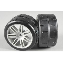 FG 08433 - Front tires type D glued (2p)