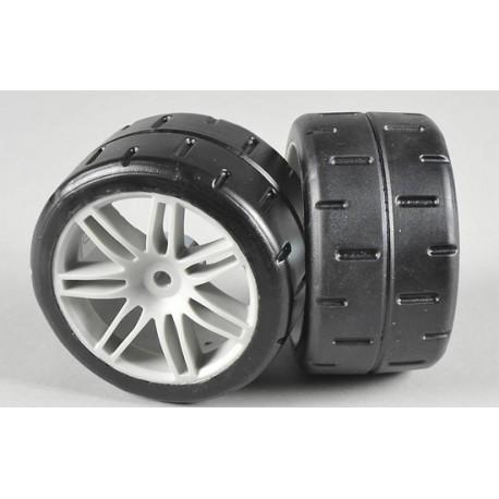 FG 08433 - Front tires type D glued (2p)