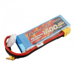Gens Ace 1600mAh 11.1V 40C 3S1P Lipo Battery Pack with XT60 plug