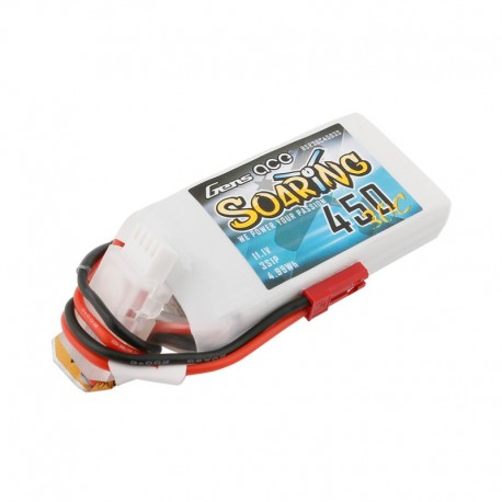 Gens Ace Soaring 450mAh 11.1V 30C 3S1P Lipo Battery Pack with JST-SYP plug