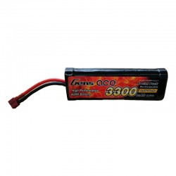 Gens Ace 3300mAh 8.4V 7-Cell NiMH Hump Battery Pack with T plug