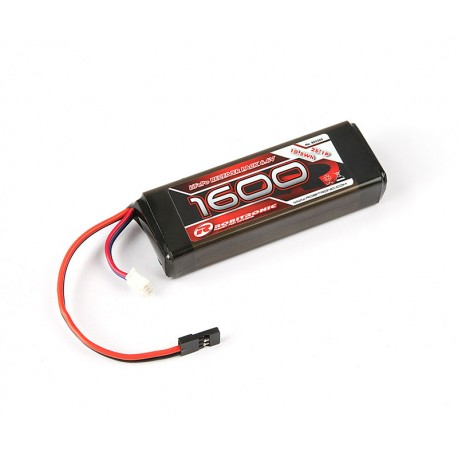 Robitronic LiFe Battery 1600mAh 2S 2/3A Straight for RX (EH)