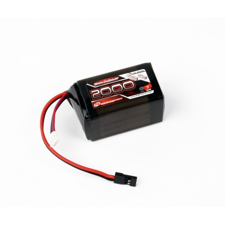 Robitronic LiFe Battery 2000mAh 2S 2/3A Hump Size for RX (EH)