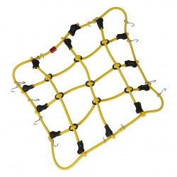 Robitronic Luggage net with hooks Yellow (150mm x 120mm)