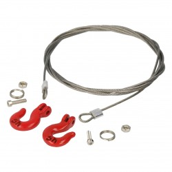 Robitronic Wire Rope with Heavy Duty Hooks