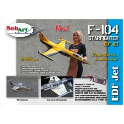 Sebart F-104 Starfighter EDF 82 Anno Version (Yellow/Black)