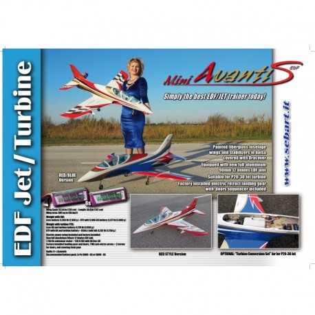 Sebart Mini Avanti S Jet EDF 90mm 6S (White/Red Version)