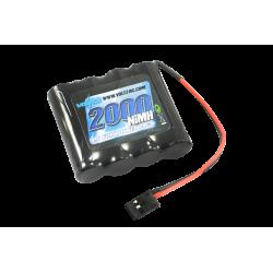 Voltz 2000mAh 4.8v NiMH RX Straight Battery w/Connector