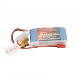 Gens Ace Lipo 800mah 7.4v 45C 2S1P Lipo Battery Pack