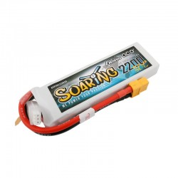 Gens Ace Soaring 2200mAh 7.4V 30C 2S1P Lipo Battery Pack with XT60 plug