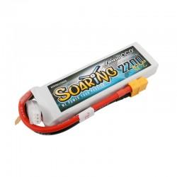 Gens Ace Soaring 2200mAh 7.4V 30C 2S1P Lipo Battery Pack with XT60 plug