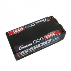 Gens Ace 5500mAh 7.6V High Voltage 120C 2S2P Racing Series Shorty Black HardCase