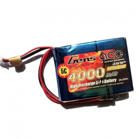 Gens Ace 4000mAh 7.4V 2S1P Transmitter Lipo Battery Pack