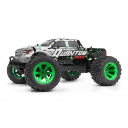 Maverick Quantum MT Flux 1/10 Monster Truck Silver/Green RTR