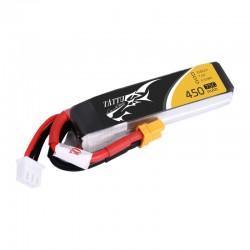 Tattu 450mAh 2S 75C 7.4V Lipo Battery Pack with XT30 Plug-Long size