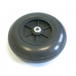 Fema Wheels Plus, Solid Rubber 100mm with GRP Rim and Aluminum Hub 6.1mm