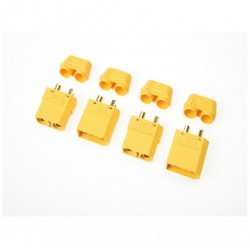 G-Force Connector XT-90H w/Cap Gold Plated Male+Female 2 Pairs