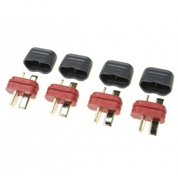 G-Force Connector Deans Gold Plated w/ Cap Male (4 Pcs)